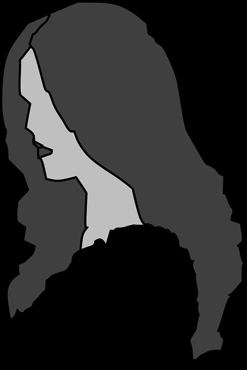 Woman, Hair, Profile, Gray, Elegant, Anonymous, Beauty