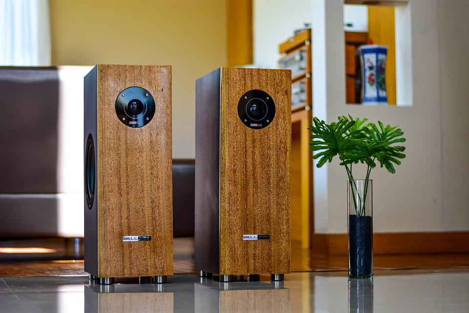 Speakers, Wood, Elegant, Decoration, Inside