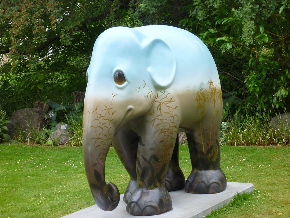 Statue, Elephant, Copenhagen