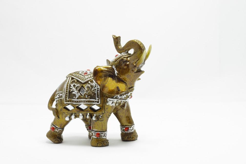 Elephant, Toy, Elephant Statue
