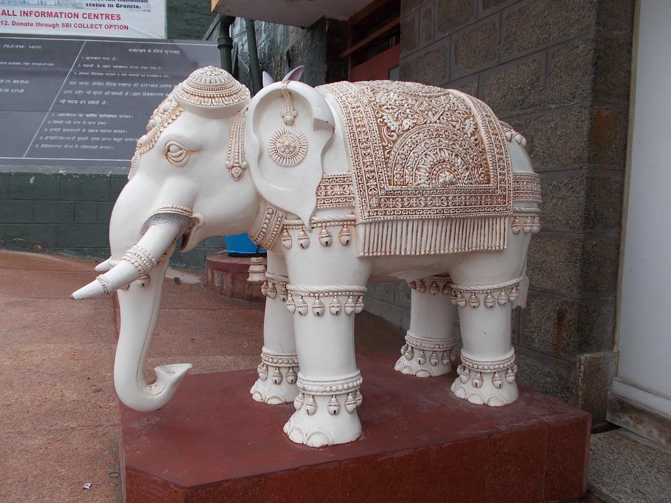 Elephant, Indian Sculpture, Statue