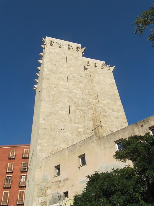 Elephant Tower, Sardinia, Cagliari, Old Town