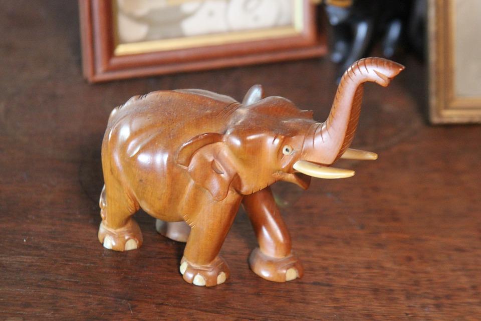 Elephant, Wood, Carving, Animal, Nature, Decoration