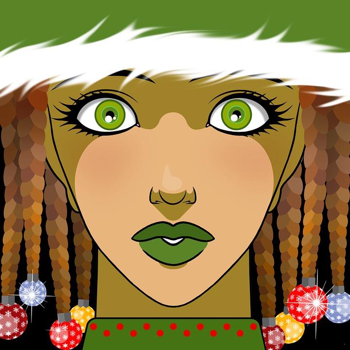 Christmas, Costume, Woman, Baubles, Elf, Christmas Elf