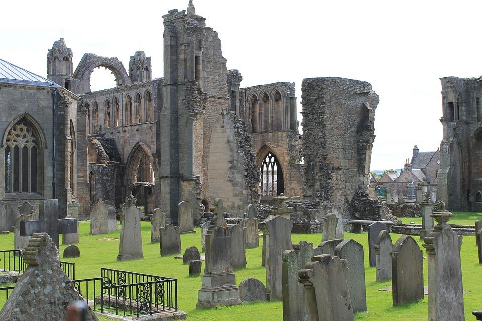 Elgin, Cathedral, Ruins, Graveyard, Scotland