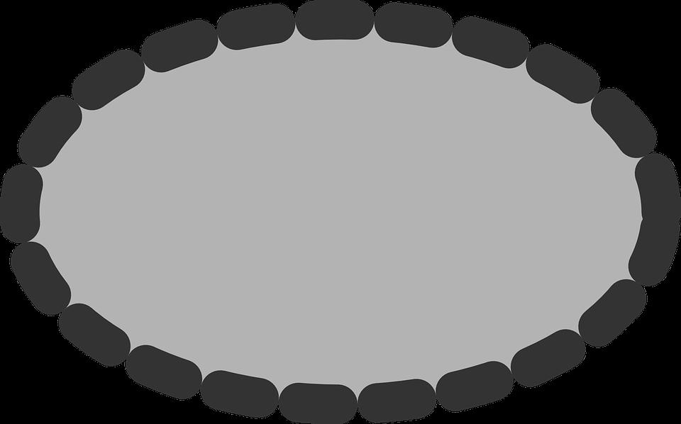 Ellipse, Oval, Dotted, Grey, Geometric