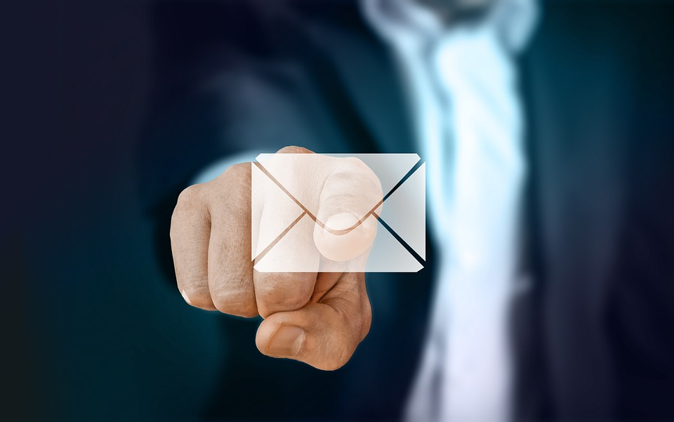Businessman, Finger, Touch, Turn On, Mail, Email