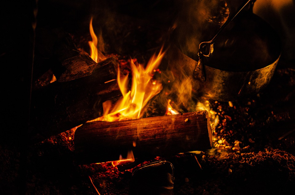 High Contrast, Fire, Camping, Embers, Hot, Blaze
