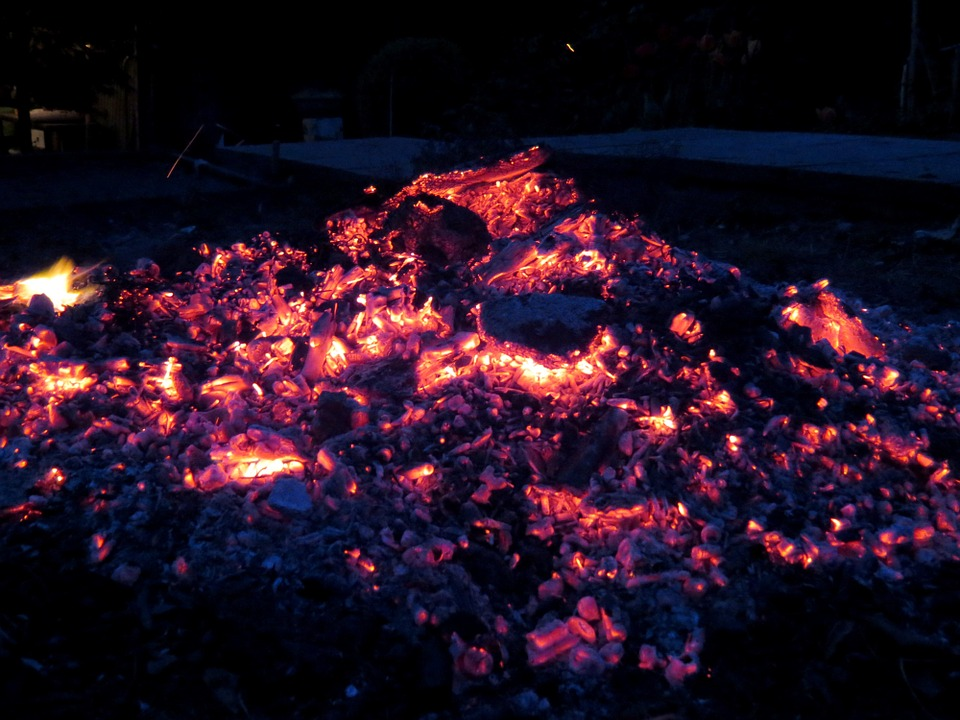 Embers, Fire, Flame, Hot, Campfire, Wood, Brand