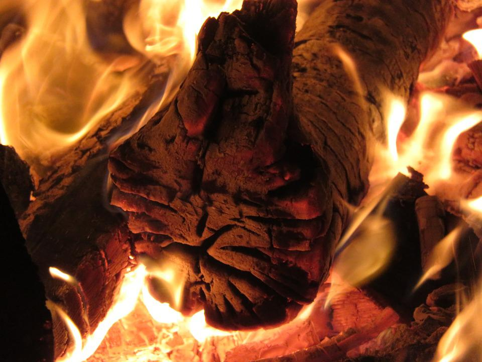 Easter Fire, Embers, Flame, Wood, Hot