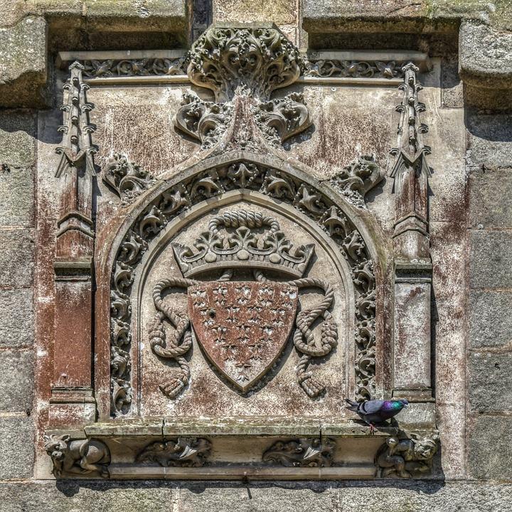 Coat Of Arms, Emblem, Pierre, Wall, Sculpture, Symbol