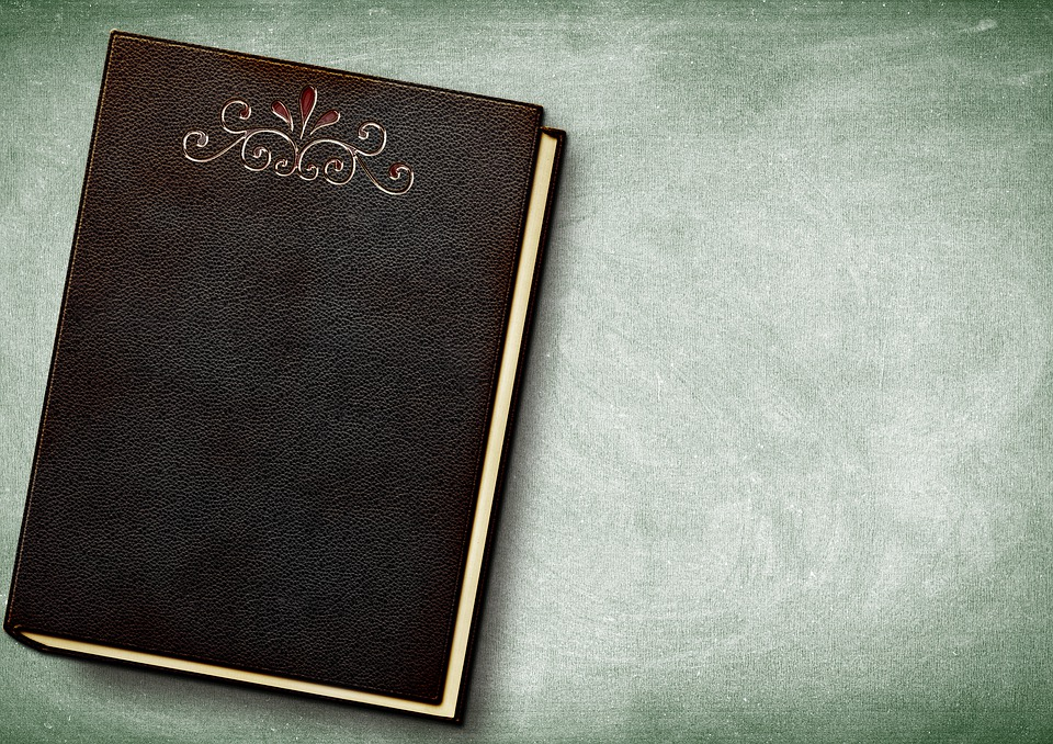 Book, Embossing, Leather, Empty, Book Cover