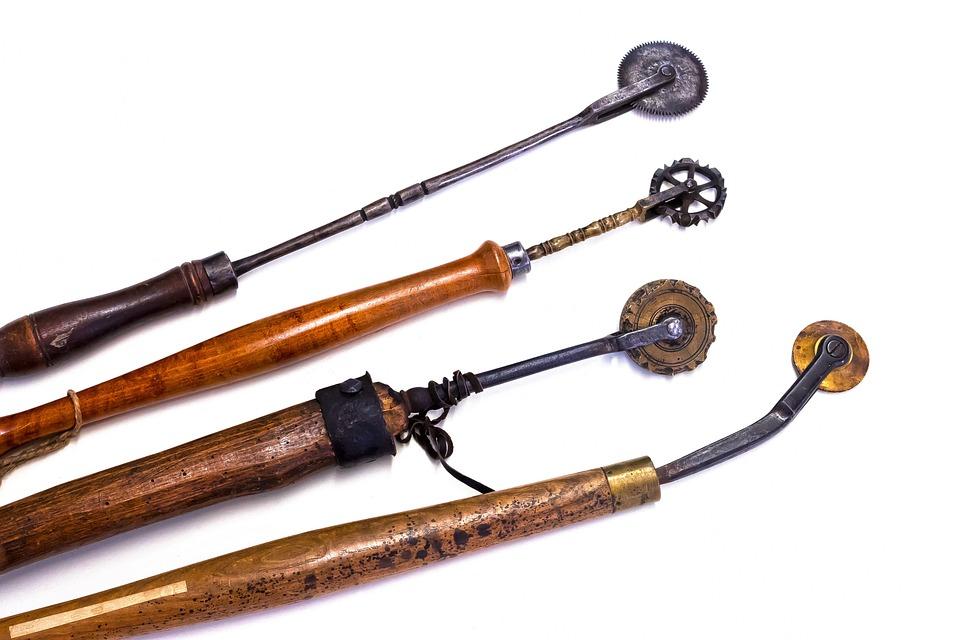 Embossing Roller, Ornate, Wooden Handle, Tool