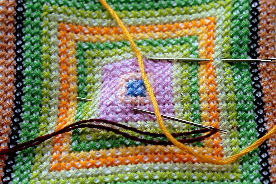 Embroidery, Handicraft, Wyszywać, Thread, Sewing