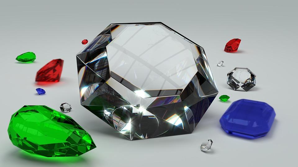 Gems, Diamond, Emerald, Rubin, Sapphire, Valuable