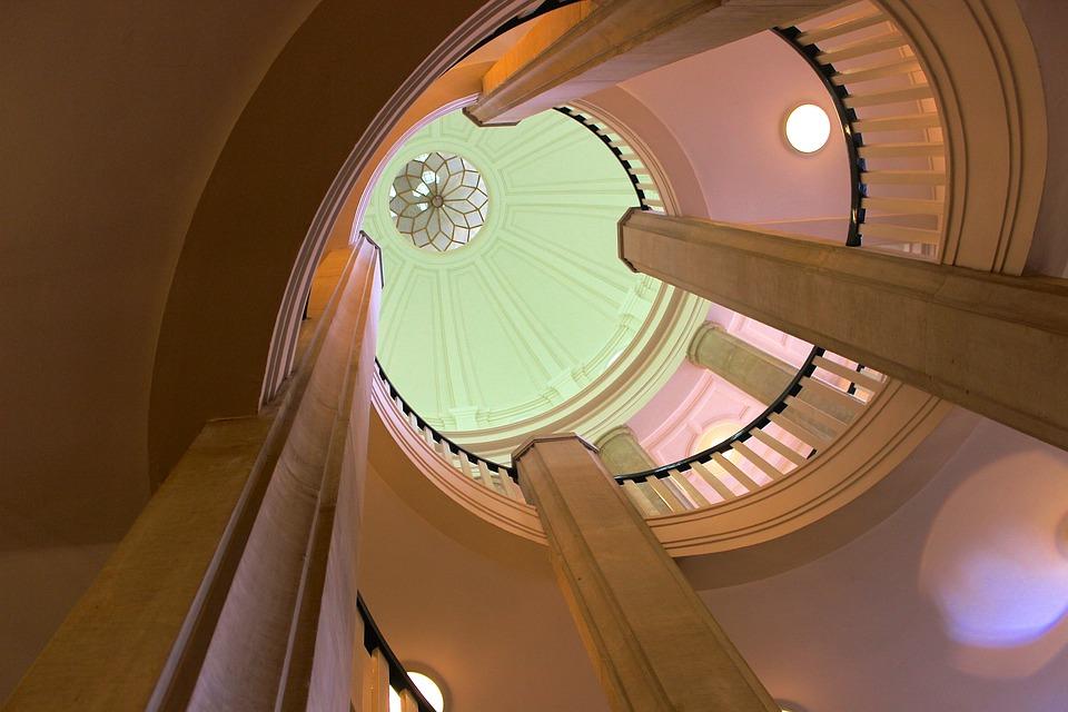 Dome, Staircase, Geometric, Floor, Columnar, Emergence