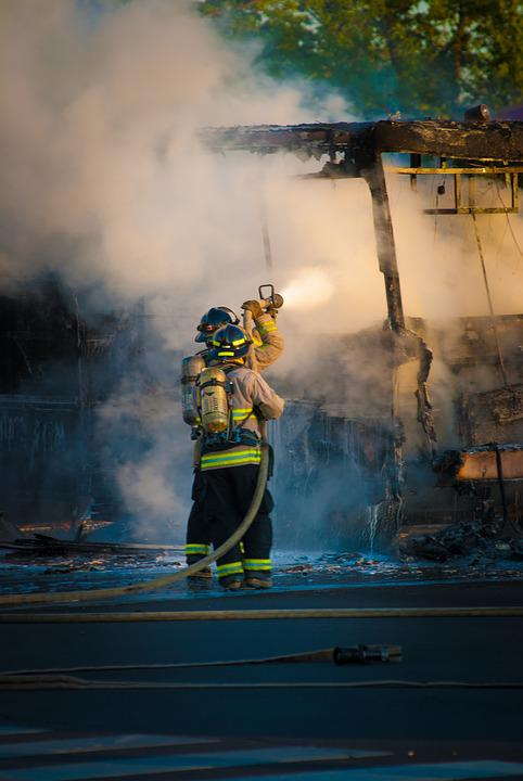 Fire, Firemen, Firefighter, Fireman, Emergency, Danger