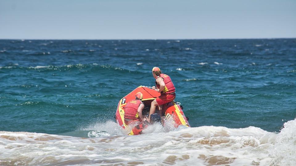 Lifesaver, Rescue, Boat, Beach, Water, Emergency