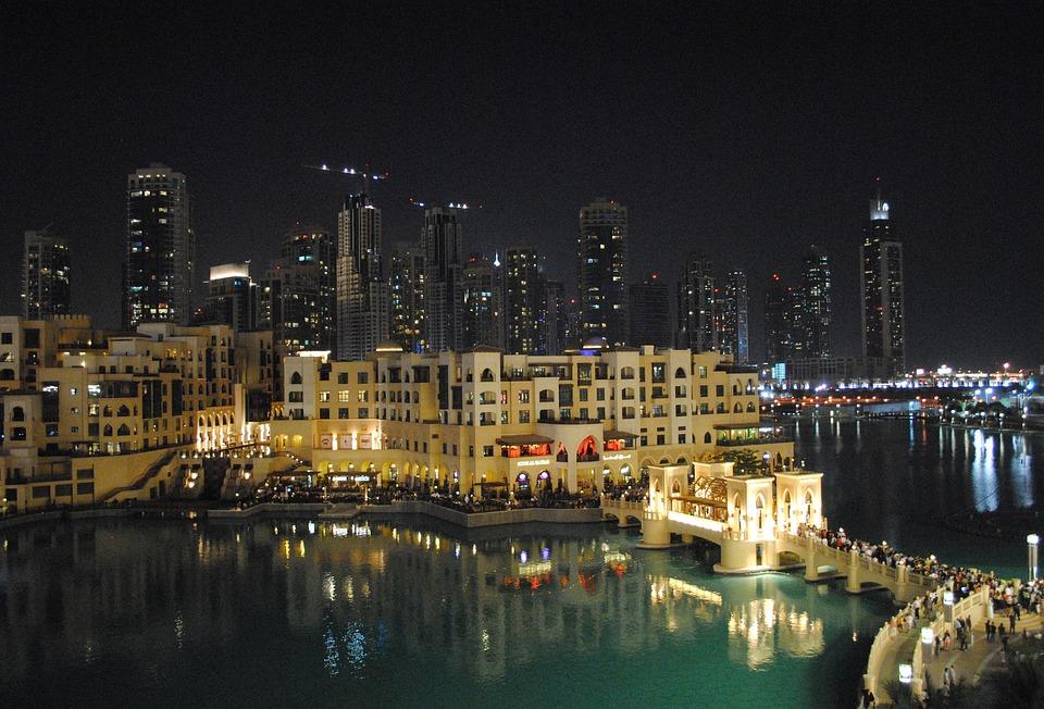 Dubai, Emirates, City, Water Games, Shopping Centre