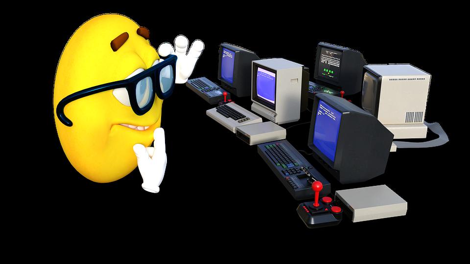 Smiley, Computers, Glasses, Nerd, 8bit, Emoticon