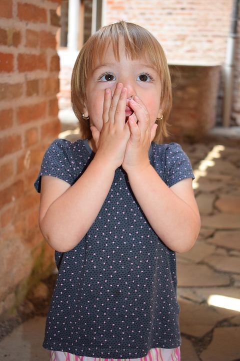 Kid, Surprise, Emotion, Wonderment, Portrait, Lovely