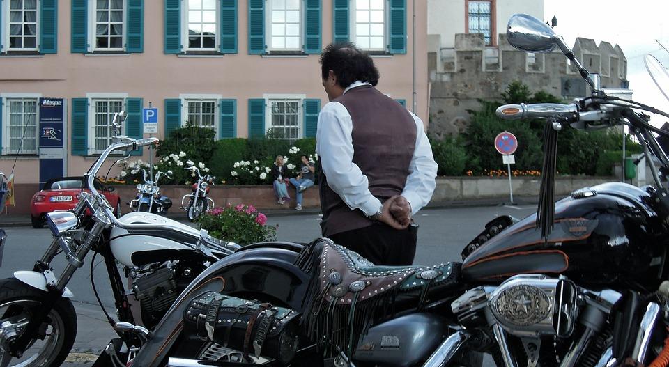 Motorcycle, Man, Emotion, Dam, Thoughtful, Think
