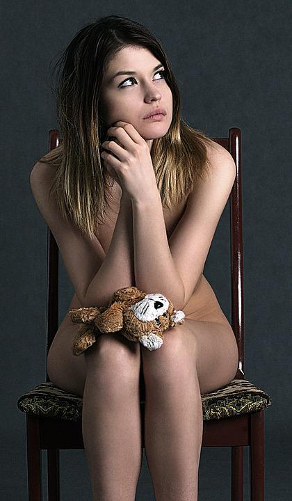 Girl, Thoughtfulness, Sadness, Emotions, Toy, Reverie