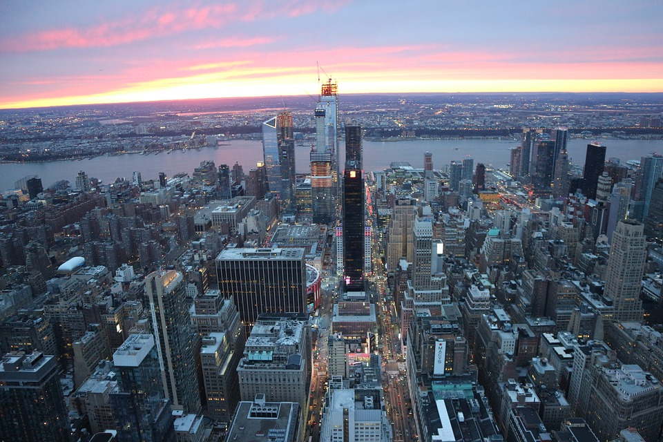 Empire State Building, New York City, Sunset, City