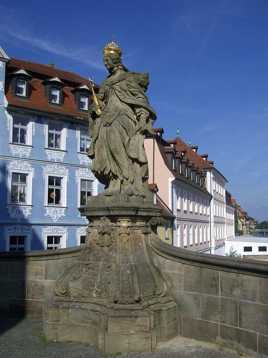 Kunigunde, Empress, Crown, Golden, Holy, Statue