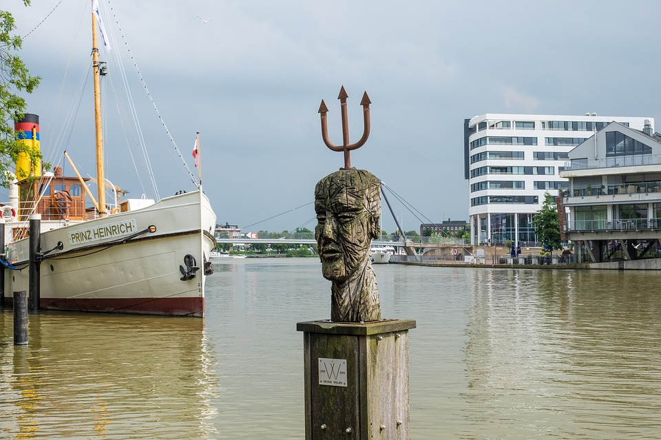 Empty, Port, East Frisia, Architecture, Water, Ship
