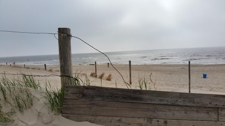 Beach, Empty Beach, Wooden Planks, Holland, Sand