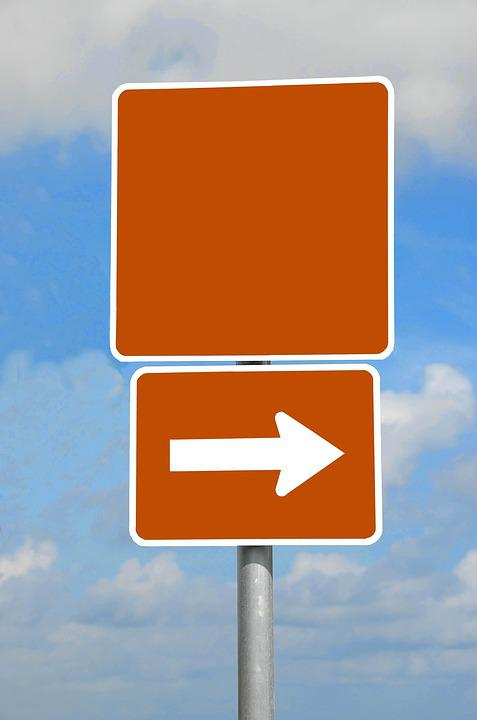 Blank Road Sign, Empty, Space, Background, Isolated