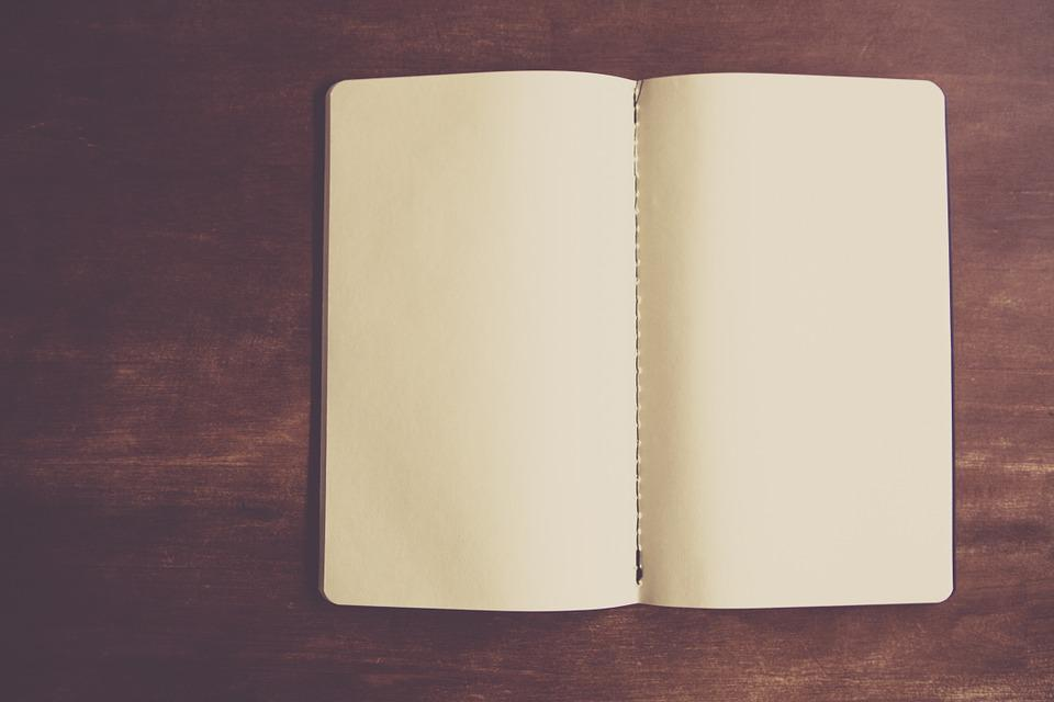 Notebook, Empty, Paper, Designer, Table, Book, Open