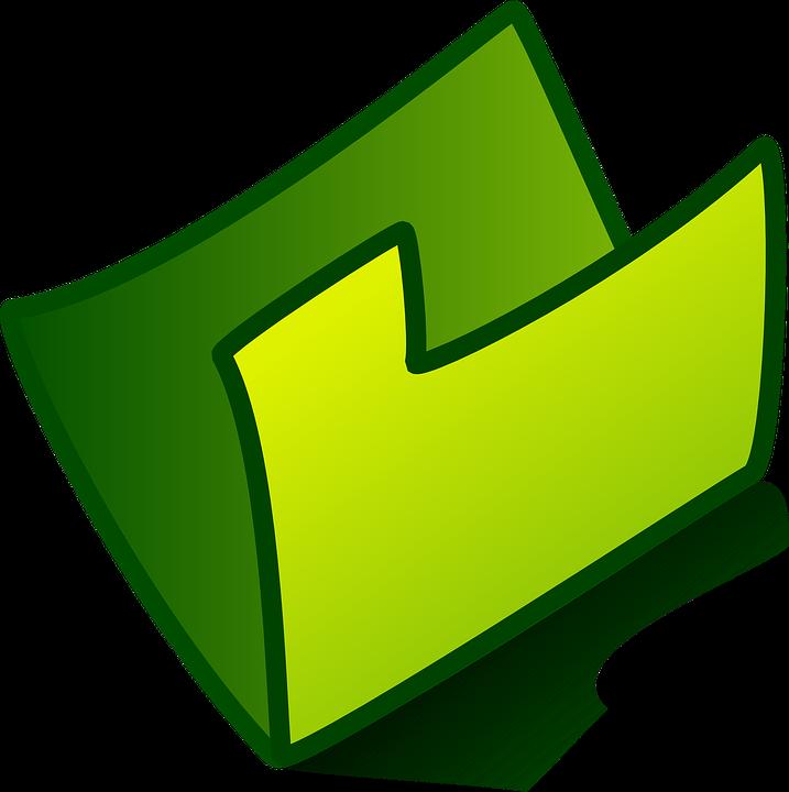 Folder, Open, Green, Office, Business, Empty, Storage
