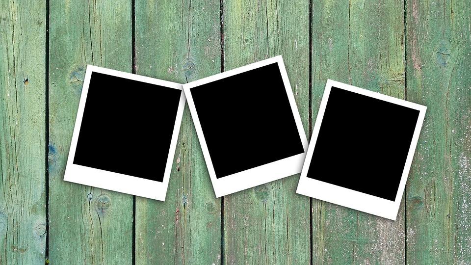 Polaroid, Image, Photo, Wood, Picture Frame, Empty