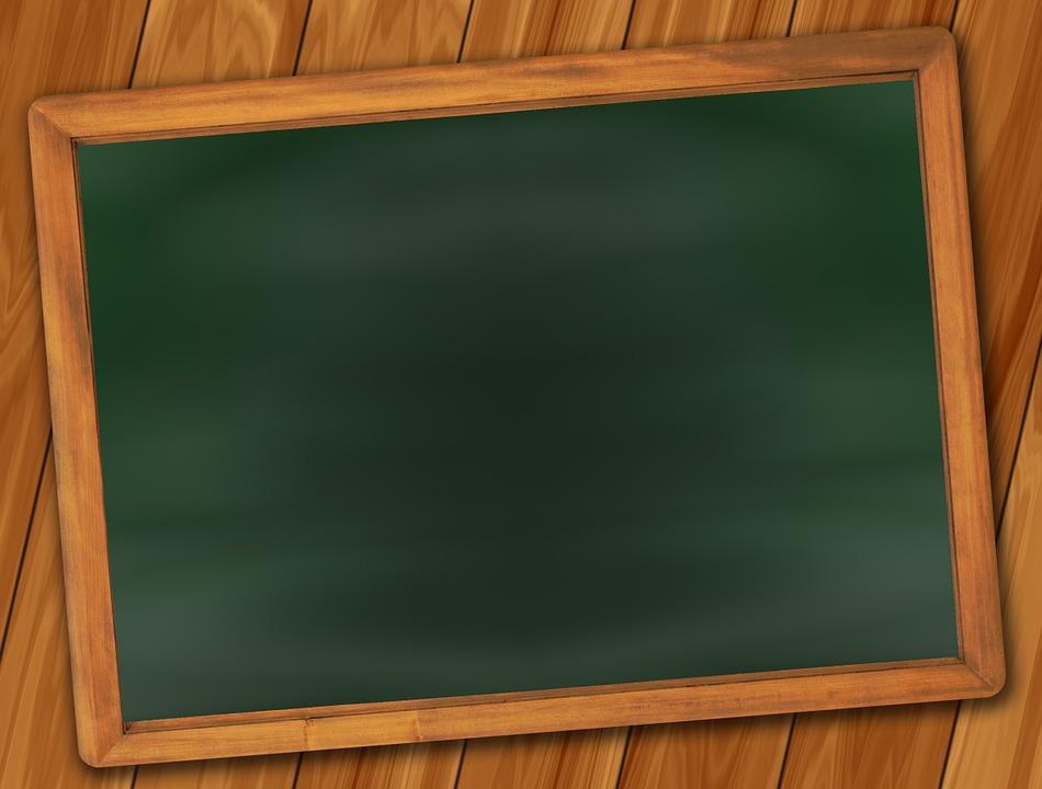 Board, School, Blackboard, Empty, Leave, Chalk, Old