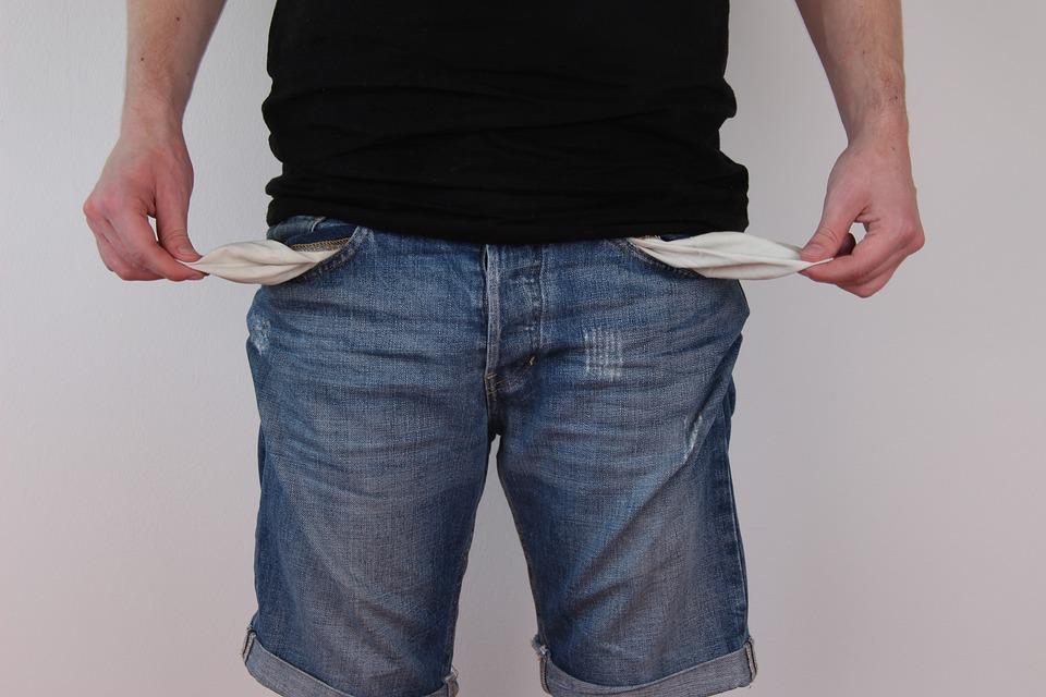 Trouser Pockets, Empty, Jeans, No Money, Poverty