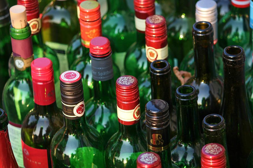 Bottles, Wine Bottles, Empty, Empties, Garbage, Glass