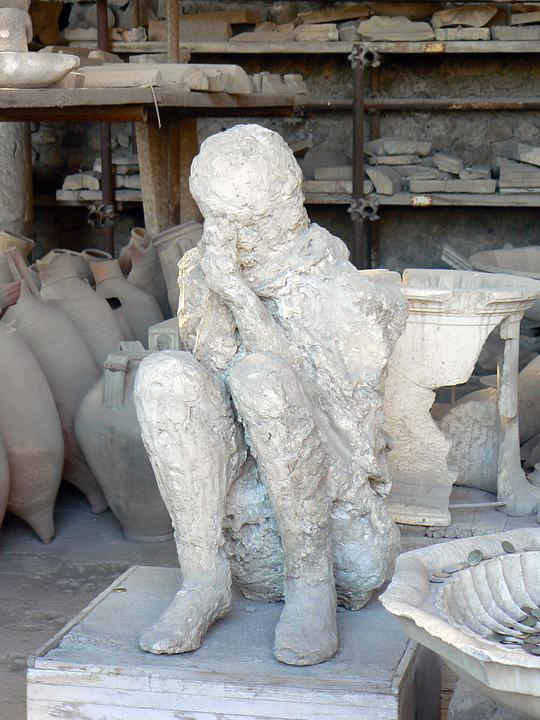 Mould, Emptying, Pompeii, Catastrophe