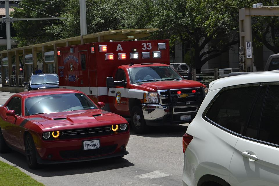 Ambulance, Emergency, Emt, Traffic, Fire Rescue