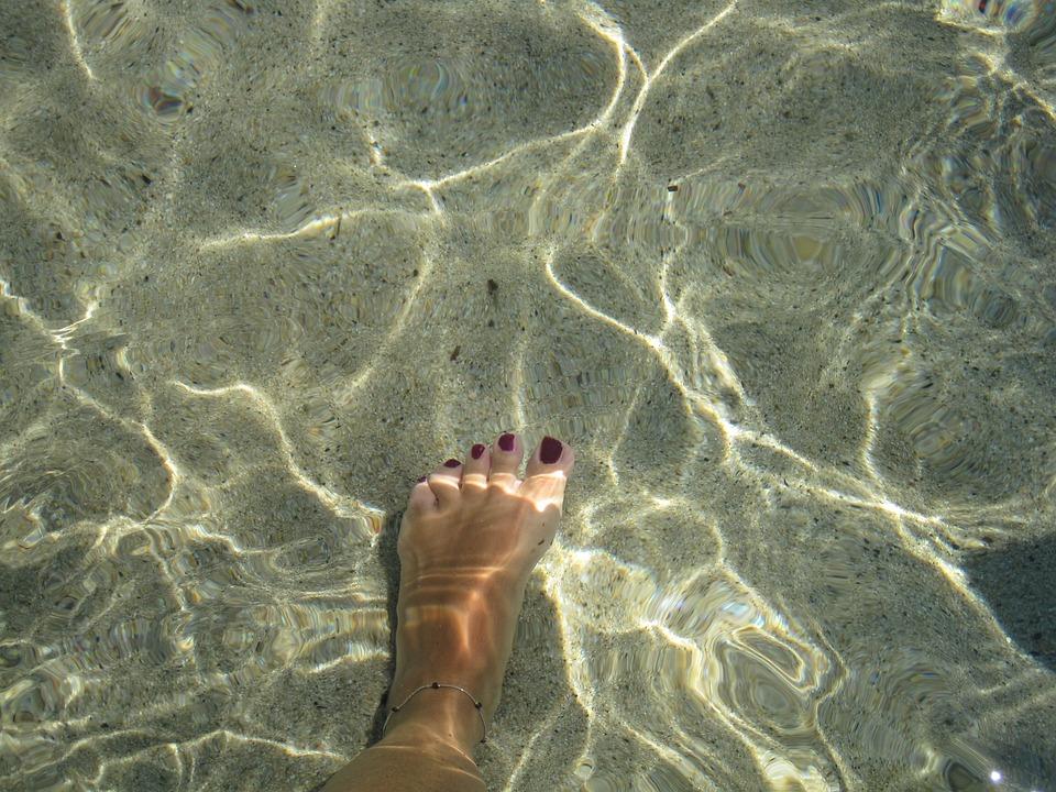 Foot, Enamel, Transparent, Clear, Sardinia, Summer, Hot