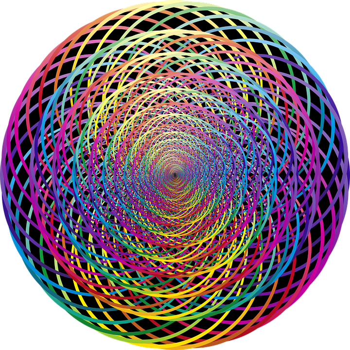 Pattern, Endless, Rainbow, Colorful, Graphics, Round