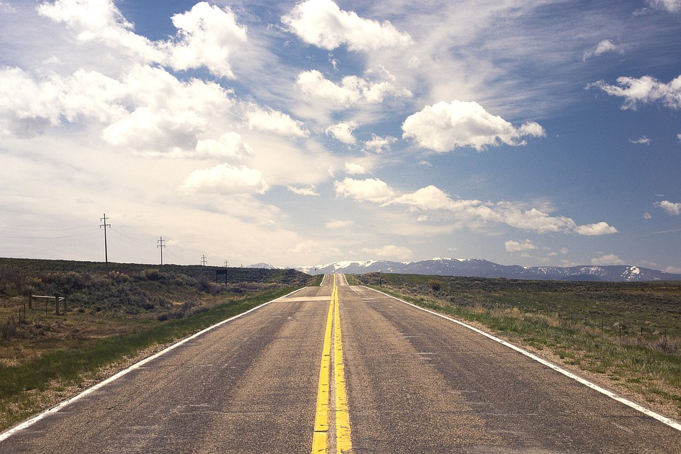 Street, Road, Horizon, Endless, Flatland, America, Usa