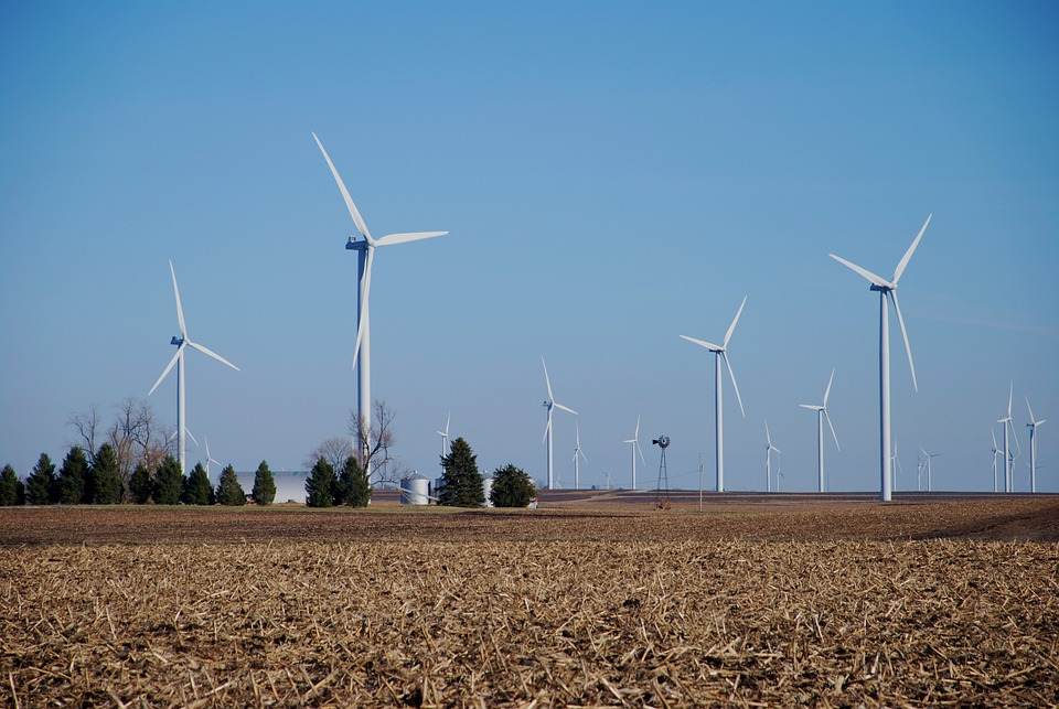 Farm, Wind Machines, Wind Turbines, Energy, Windmills