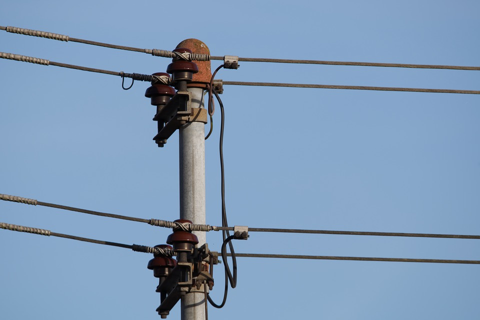 Current, Power Line, Voltage, Energy, Electricity, Sky