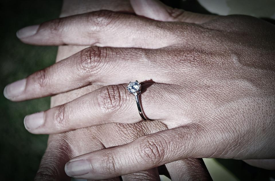 Hands, Ring, Gritty, Woman, Engagement, Love, Wedding