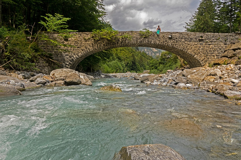 Bridge, Bach, Mountain Stream, Engelberger Aa, Water