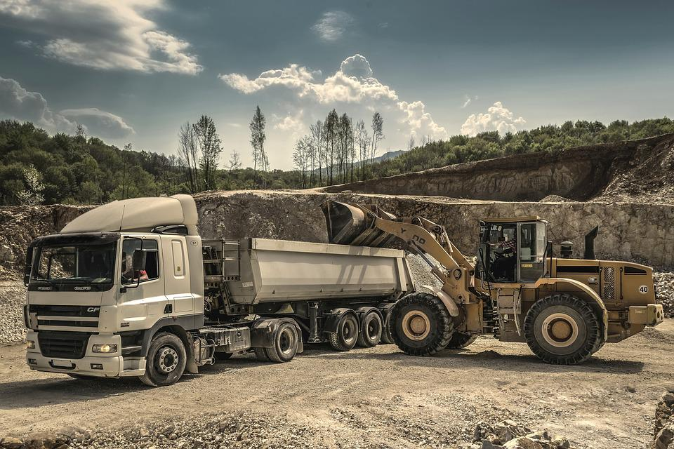 Digger, Excavator, Engine, Heavy, Loader, Lorry