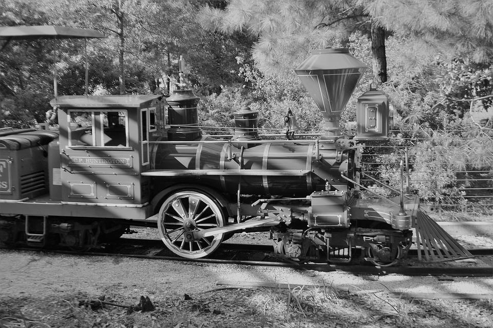 Children's Train, Herman Park, Train, Engine, Tracks