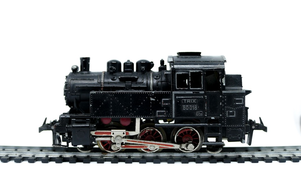 Engine, Railroad Track, Train, Isolated, Technology